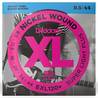 EXL120PLUS Daddario Nickel Wound Electric Guitar Strings, Super Light Plus Gauge