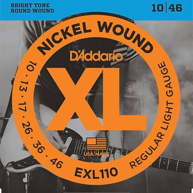 Daddario  EXL110 Nickel Wound Regular Light Electric Guitar Strings, .010 - .046
