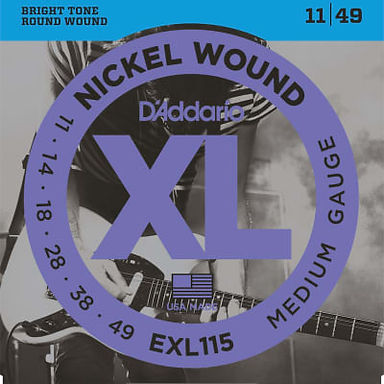 EXL115 Daddario Nickel Wound Electric Guitar Strings Medium 11-49