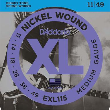 EXL115 Daddario Nickel Wound Electric Guitar Strings Medium 11-49