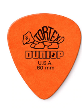 418P60 01._12-pack Dunlop Tortex Orange .60mm