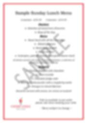 Sample Sunday lunch menu for webiste - 2