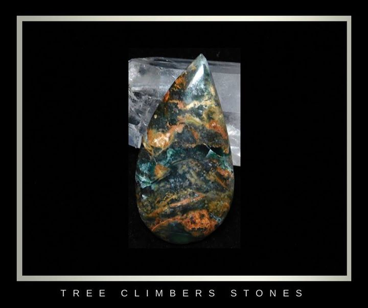 _Autumn Night_ Cab_Clear Creek Plasma agate_sold