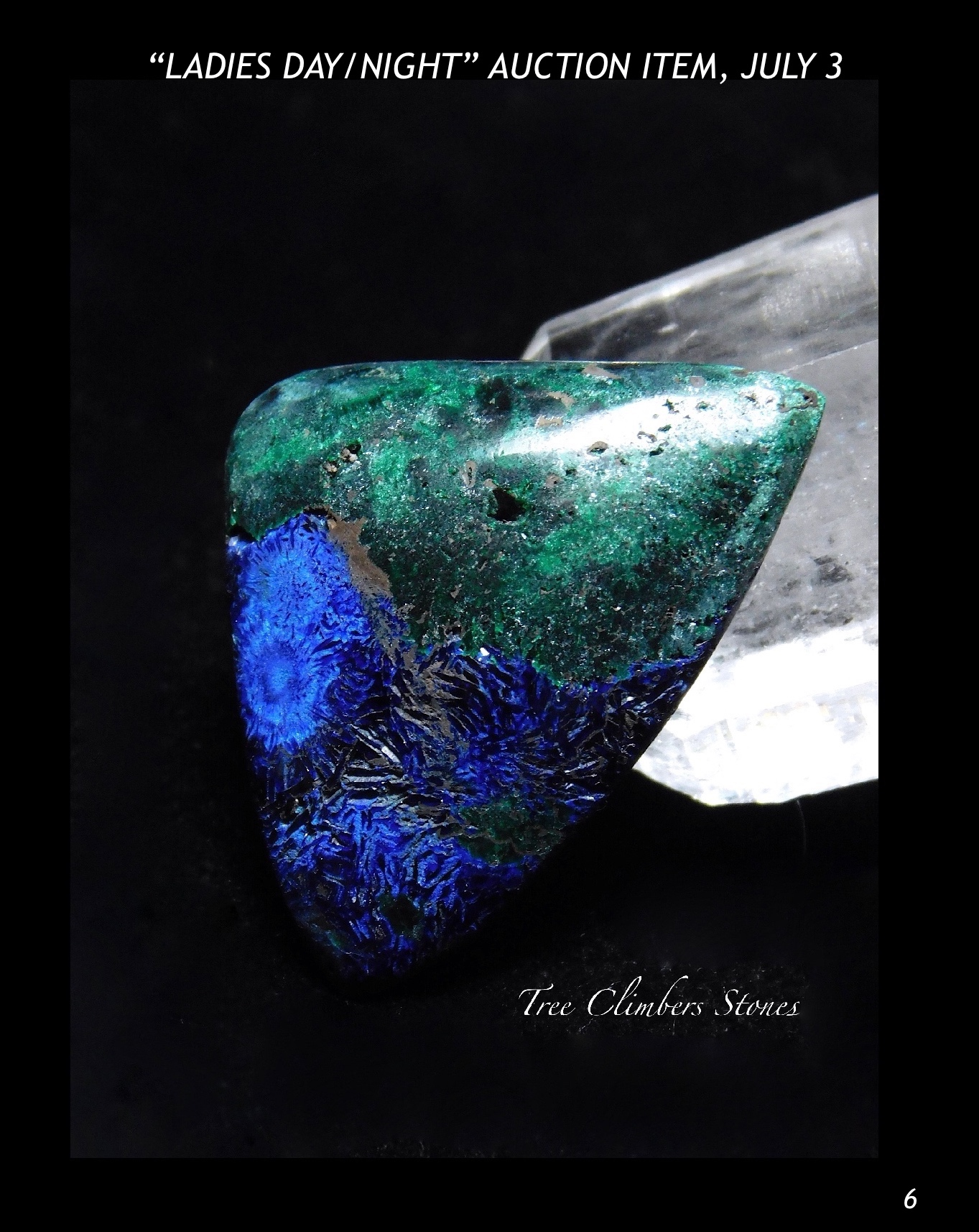Azurite and Malachite Cabochon