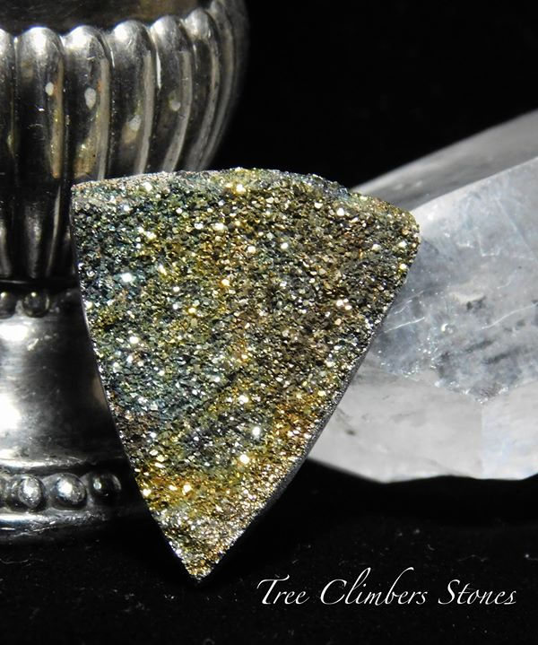 Russian Rainbow Pyrite Cab
