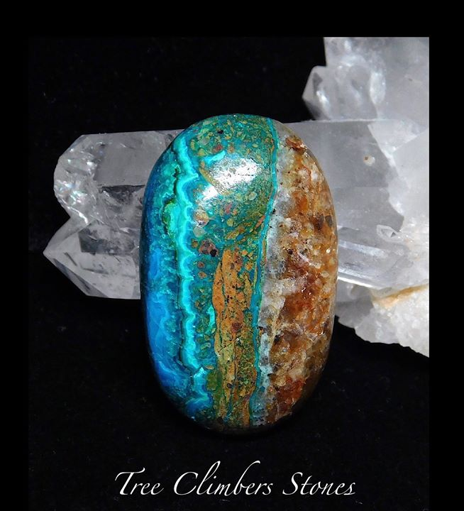 Chrysocolla, Malachite, Matrix_sold