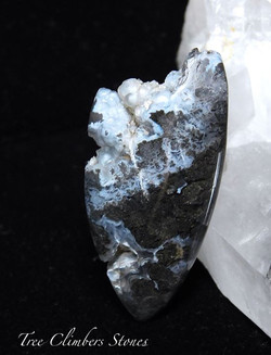 _Before the Dawn_ Cab_Black and Silver Pale Blue Botryoidal Marfa Agate_SOLD