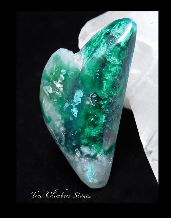 Gem Chrysocolla Chatoyant Malachite