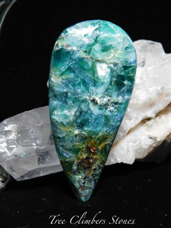 Blue and Green Kyanite Cabochon