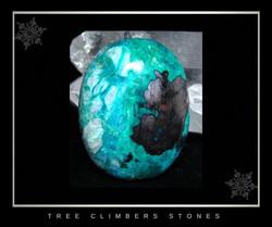 Hematite, Chrysocolla Cabochon