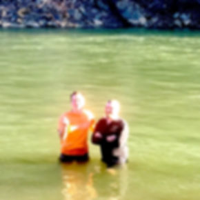 Baptism in the Stanton River, English Park Altavista.