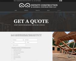 Infinity Construction Website Portfolio