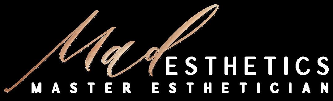 Mad Esthetics Final Logo - White and Gol