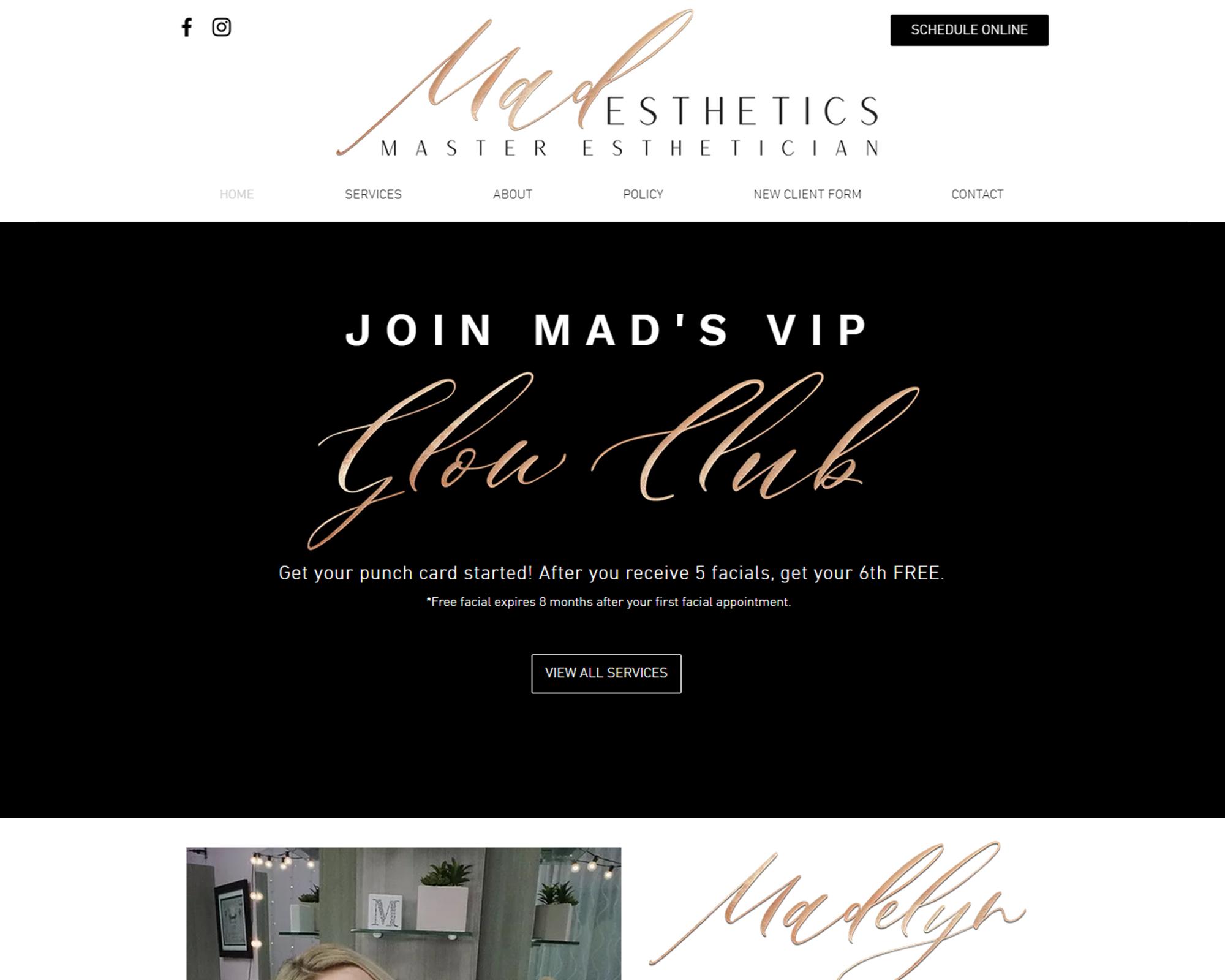 Mad Esthetics Website Portfolio New