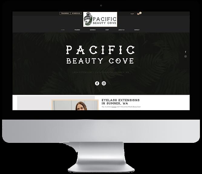 Pacific Beauty Cove Website Design