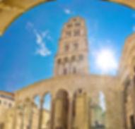 Split historic Peristil UNESCO world her