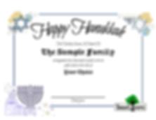 Happy Hanukkah Tree Planting gift