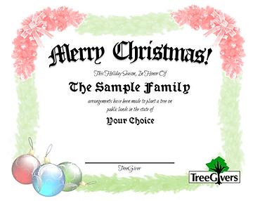 Merry Christmas Tree Planting