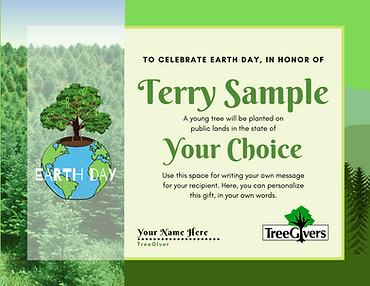 Earth Day Tree Planting Gift
