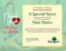 Plant a tree and donate a meal for a special Nurse