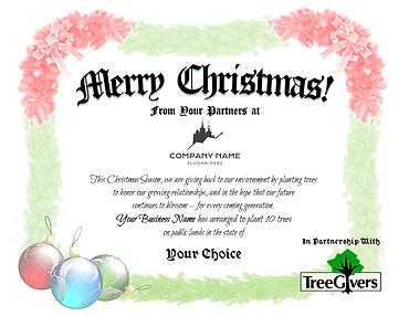 Merry Christmas Sample Certificate