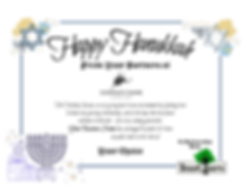 Happy Hanukkah Sample Certificate
