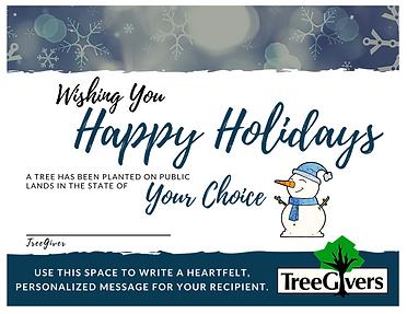 2020 Happy Holidays Tree Planting Gift