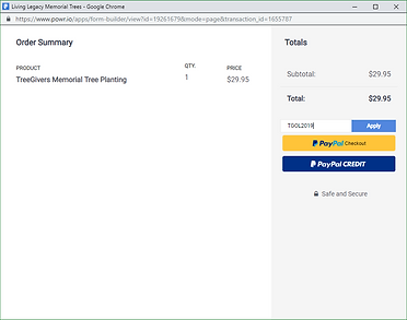 Paypal payment instructins