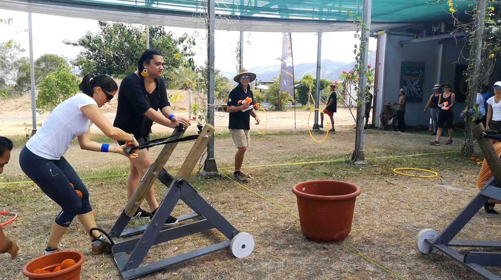 Combat de catapultes
