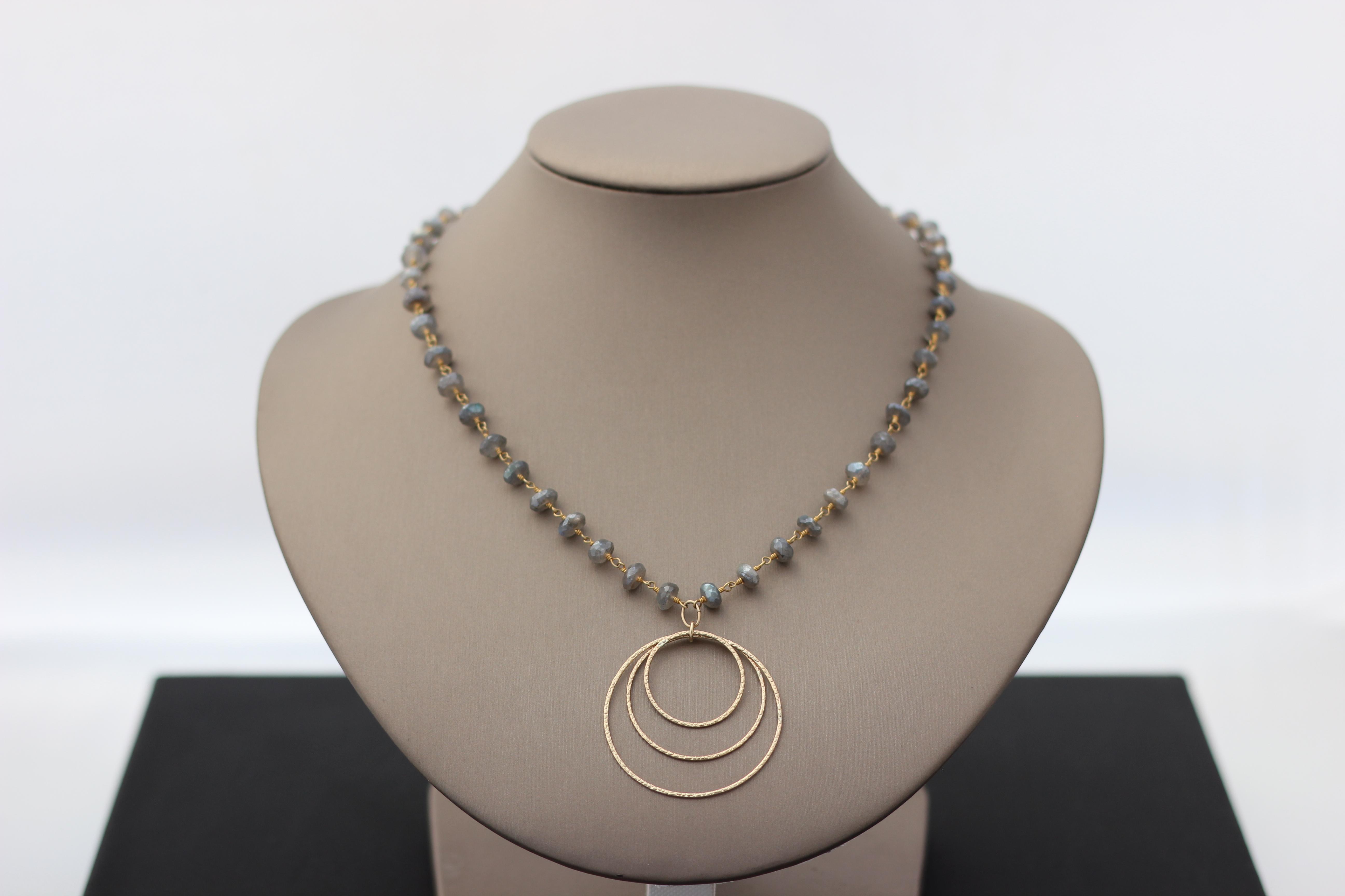 13. Mystic Labradorite, Circles | $138