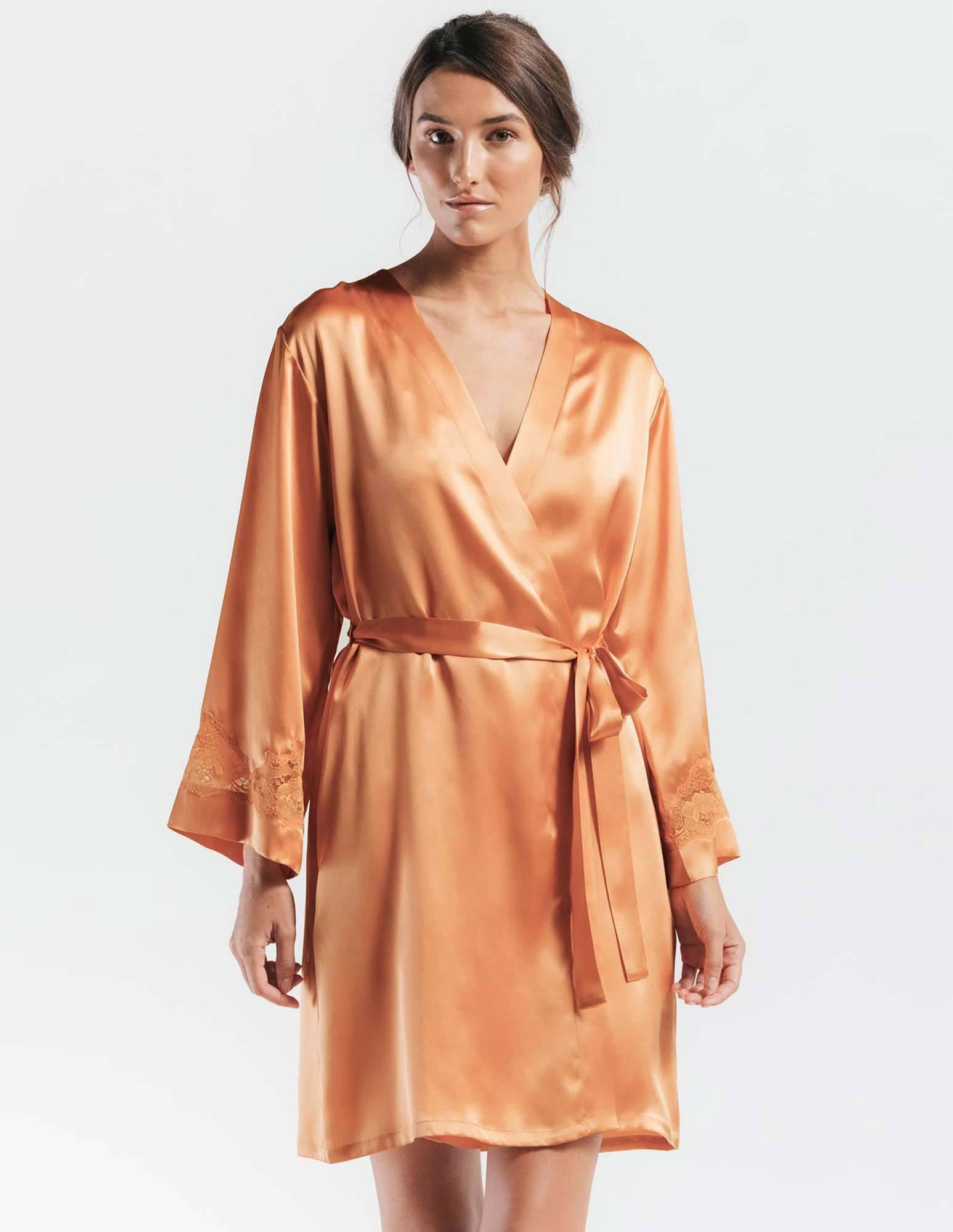 48. Morgan Robe $240. S-L. Peach