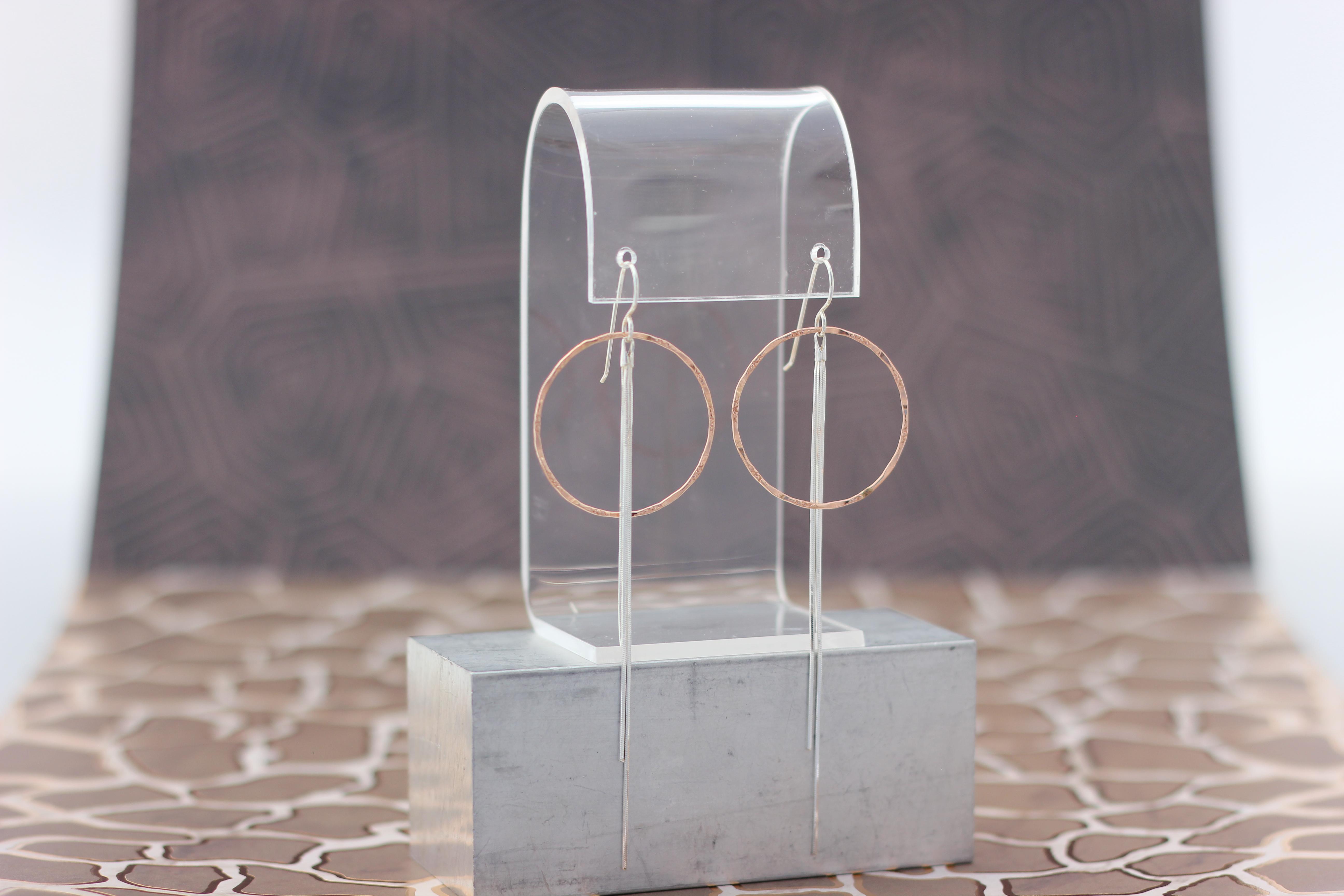 46. Rose Gold Circle, Silver Fringe | $88
