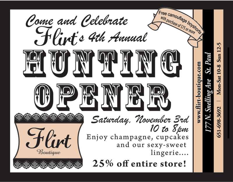 4th Annual Hunting Opener