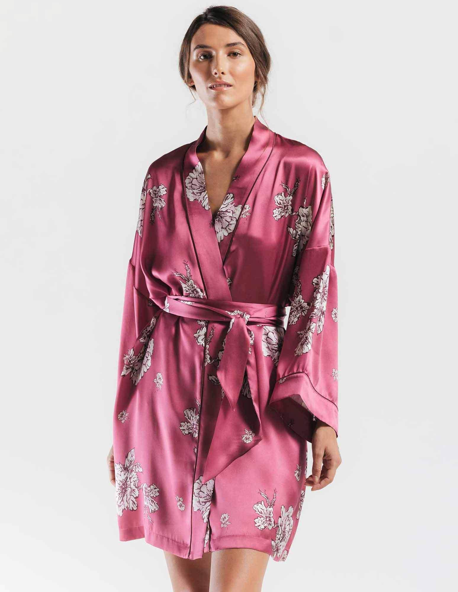 5. Peony Blooms Kimono $300. S&L.