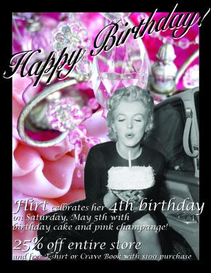Happy 4th Birthday Flirt Boutique