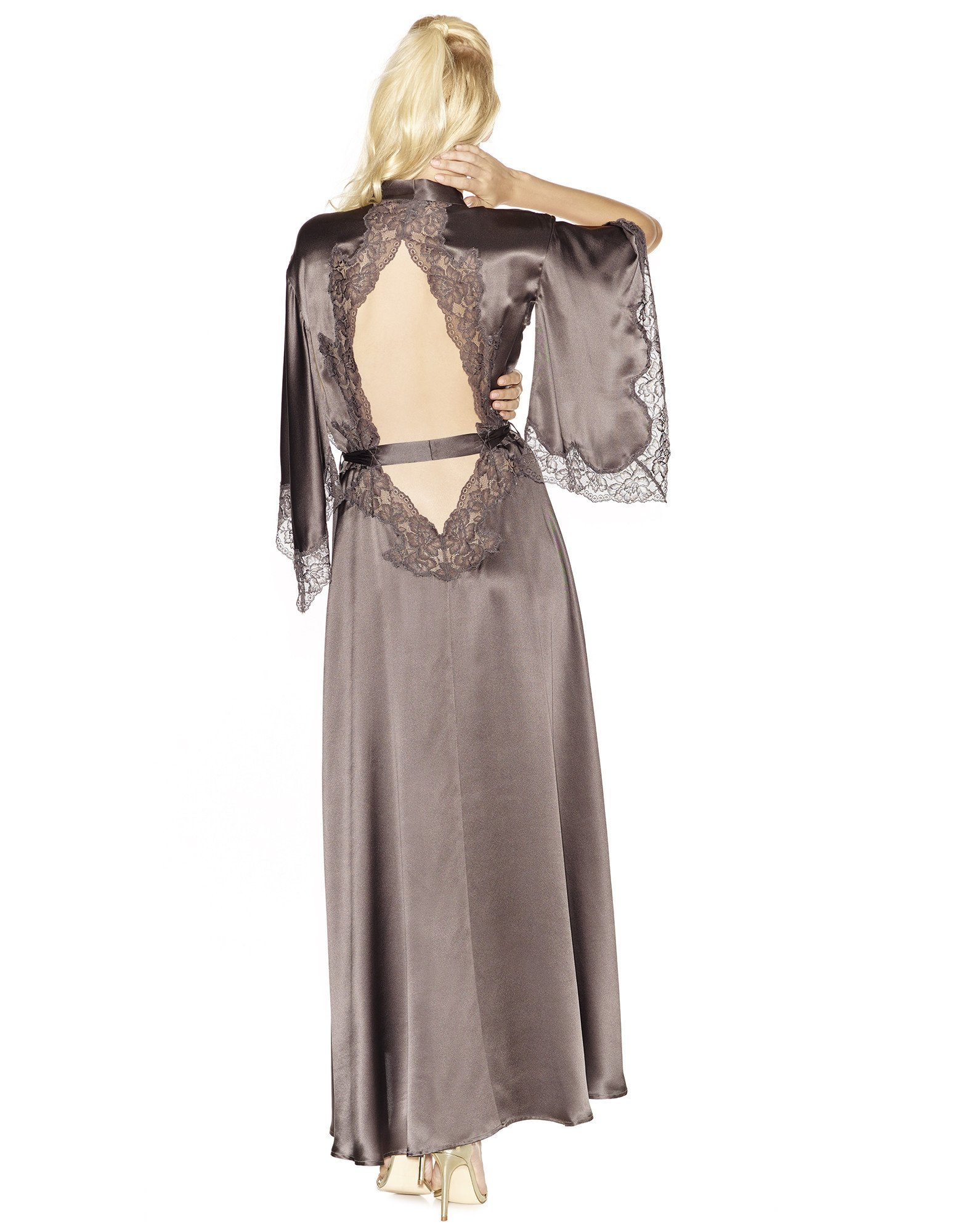 32. Estrella Long Kimono $307. S-L. Grey