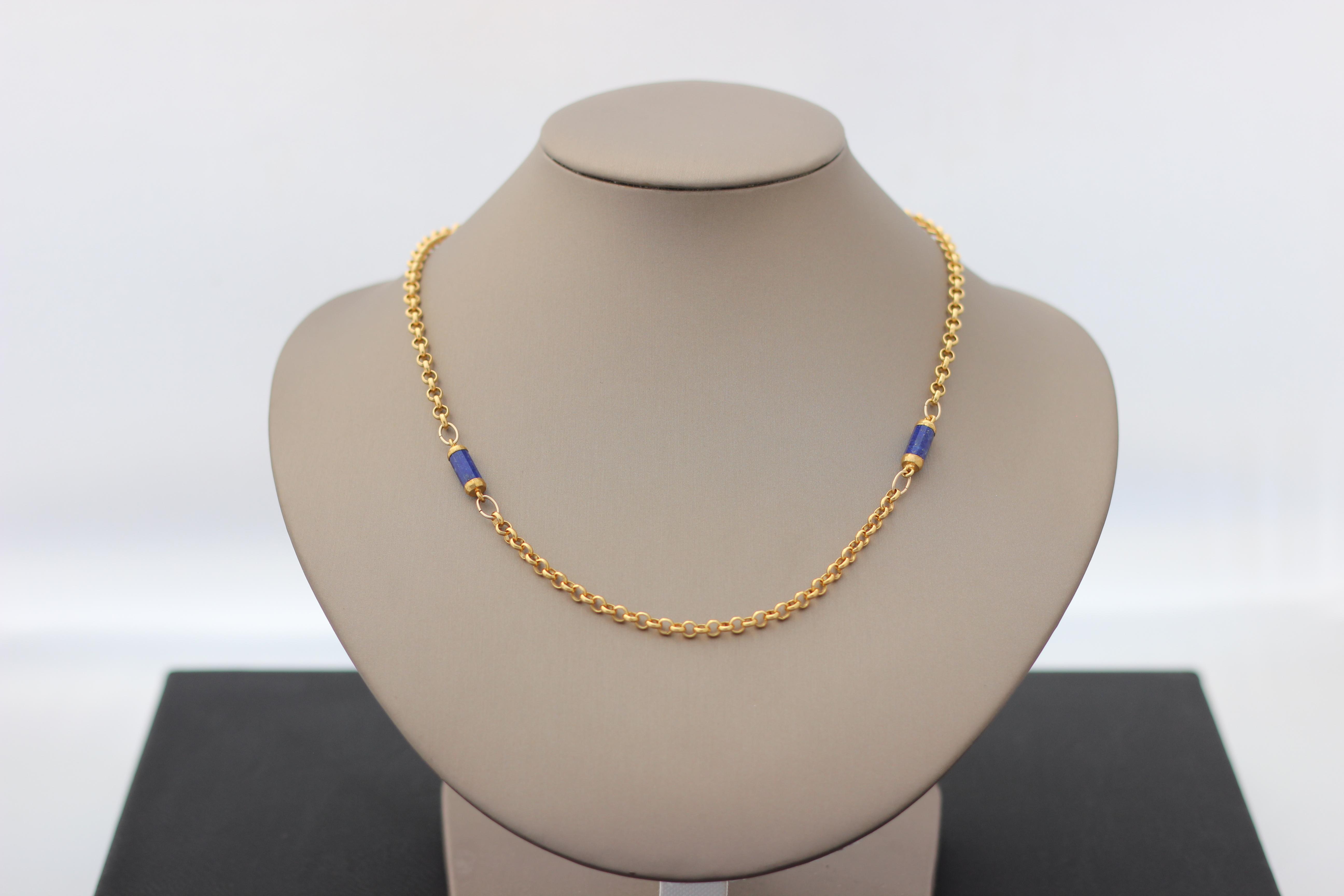 8. Gold Rolo, Lapis | $192