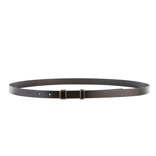 Skinny belt with ascetic buckle