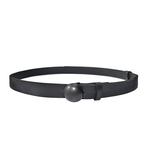 Skinny belt with round buckle