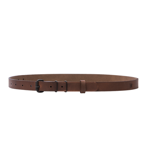 Skinny double keeper belt