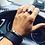 Thumbnail: Asymmetrical gunmetals clasp bracelet