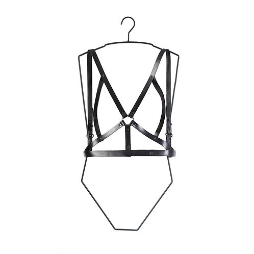 Leather Chest Harness with Ring detail