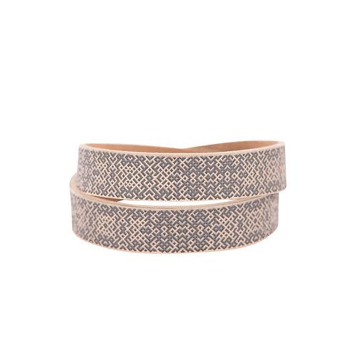 Beige double wrap Lielvardes belt bracelet