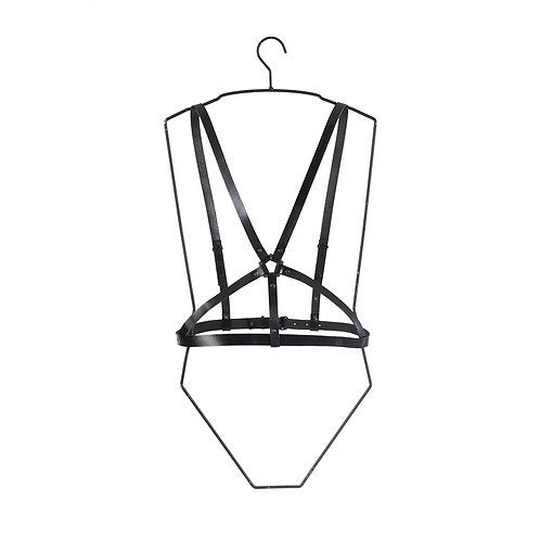 Leather Harness with Pentagon detail