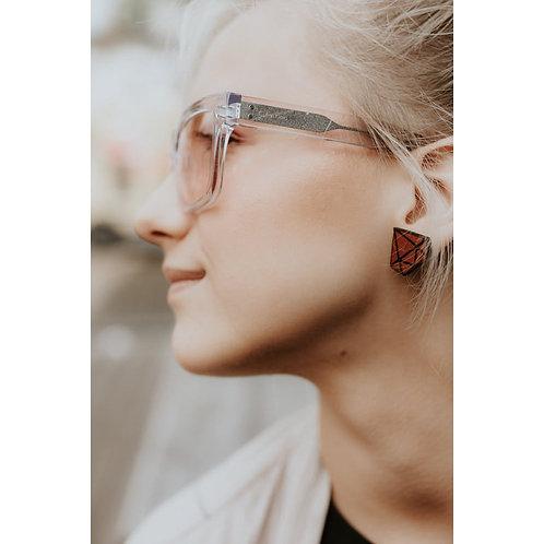 Reddish-brown Diamond Earrings