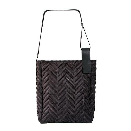 Mixed material Herringbone bag