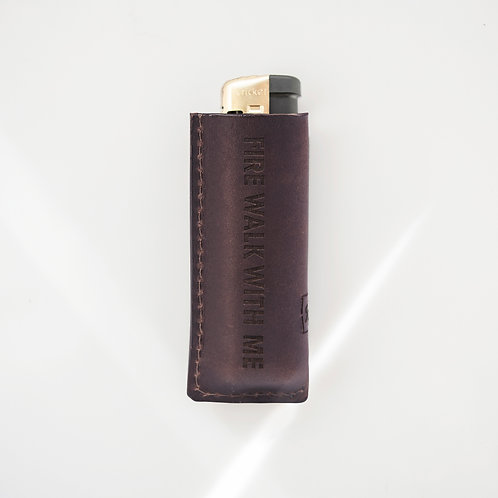 Twin Peaks Brown Lighter case