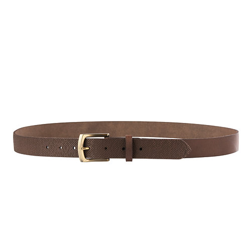 Brown Leather Belt With Lielvardes pattern