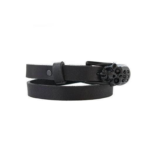 Black matte Skull Buckle Bracelet