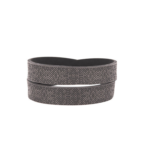 Grey double wrap Lielvardes belt bracelet